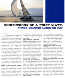 Confessions of a First Mate