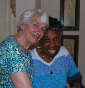 ...and lots of loving hugs, demonstrated here by Peggy and Bernice.