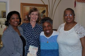 And finally a photo of me with Bernice and two of her three daughters.